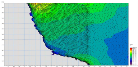 Numerical modelling of tidal flows across the site